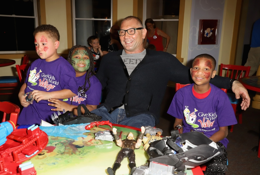Dave Bautista Visits Give Kids The World Village To support Marvel: The Universe Unites, A Week-Long Charity Campaign To Help Support Children's Charities
