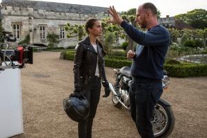 Alicia com o diretor Roar