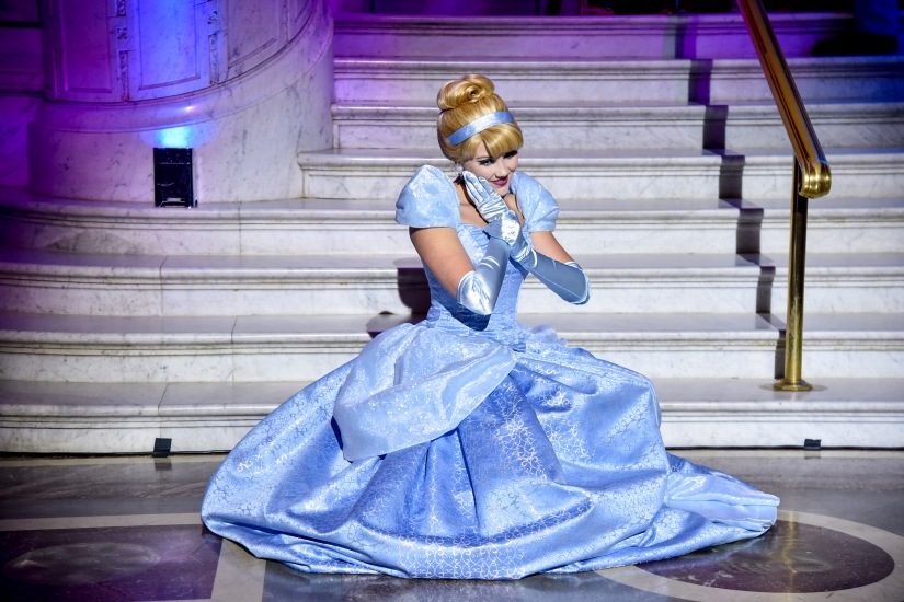 """WASHINGTON, DC - JUNE 20: Cinderella arrives at Disney's """"Cinderella"""" Library Of Congress National Film Registry Ball In Celebration Of In-Home Release at The Library of Congress on June 20, 2019 in Washington, DC. (Photo by Kris Connor/Getty Images for Disney)"""