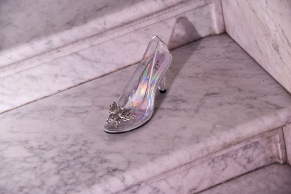 """WASHINGTON, DC - JUNE 20: Cinderella's glass slipper at Disney's """"Cinderella"""" Library of Congress National Film Registry Ball In Celebration Of In-Home Release at The Library of Congress on June 20, 2019 in Washington, DC. (Photo by Kris Connor/Getty Images for Disney)"""