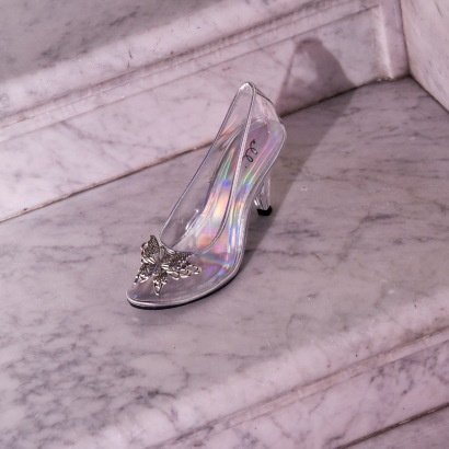 "WASHINGTON, DC - JUNE 20: Cinderella's glass slipper at Disney's ""Cinderella"" Library of Congress National Film Registry Ball In Celebration Of In-Home Release at The Library of Congress on June 20, 2019 in Washington, DC. (Photo by Kris Connor/Getty Images for Disney)"